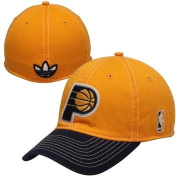adidas Indiana Pacers 2Tone Flex Hat - Gold/Black