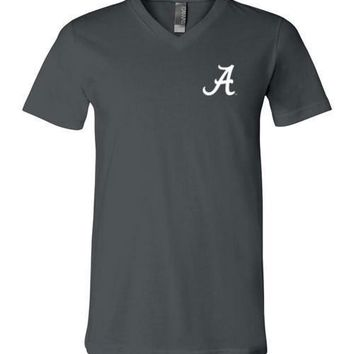 Official NCAA Venley University of Alabama Crimson Tide UA ROLL TIDE! V-Neck T-Shirt - 03al-1