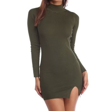 Olive Get Close Sweater Dress