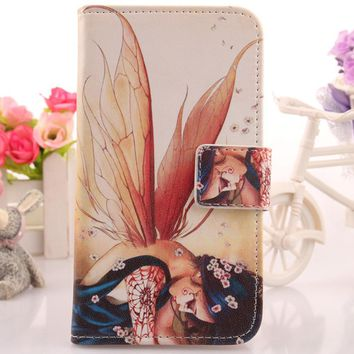Exyuan Case For Microsoft Nokia Lumia 850 5 PU Leather Cover Book Design Painting Mobile Phone Shell