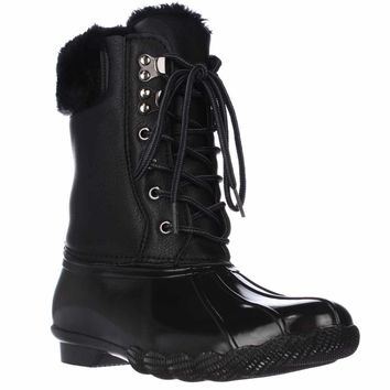 Steve Madden Tstorm Mid-Calf Soft Lined Winter Boots, Black, 9 US