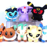 "Pokemon Eeveelutions 5"" Plush Doll Plushies - Eevee Espeon Umbreon Toys IN UK"