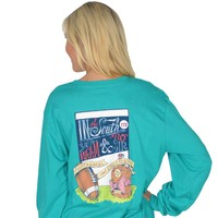 Fourth and Goal Long Sleeve Tee in Tropical Green by Lauren James - FINAL SALE