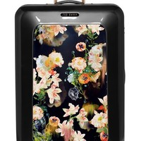 Ted Baker London 'Large Opulent Blooms' Hard Shell Suitcase - Black (32 Inch)