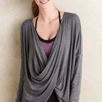 Nesh Draped Ardha Top in Grey Motif Size: