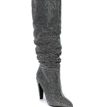 Steve Madden Crushing Rhinestone Dress Boots | Dillard's