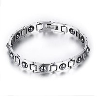 Great Deal Hot Sale Shiny Stylish New Arrival Awesome Gift Men Titanium Diamonds Bracelet [10783261251]