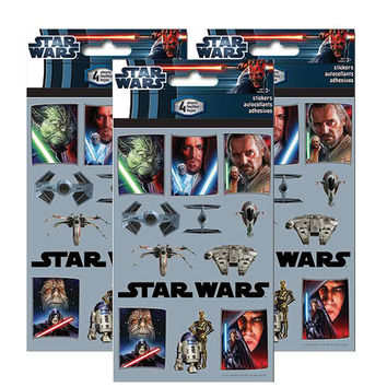 Star Wars The Saga Sticker Sheets [3 Packs of 4 Sheets Ea]
