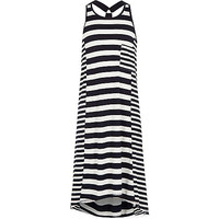 River Island Girls navy striped racer back maxi dress