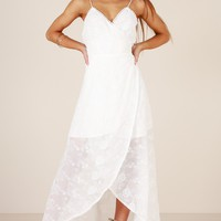 Oriental Passion maxi dress in white embroidery Produced By SHOWPO