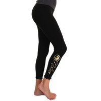 Florida State Seminoles :FSU: Women's Foiled Leggings – Black