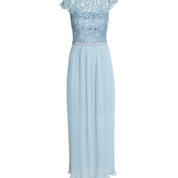 Maxi Dress with Lace Bodice - from H&M
