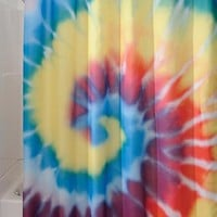 InterDesign Bright Tie Dye Shower Curtain - Walmart.com