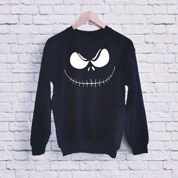 Jack Skellington UNISEX SWEATSHIRT  heppy fit & sizing