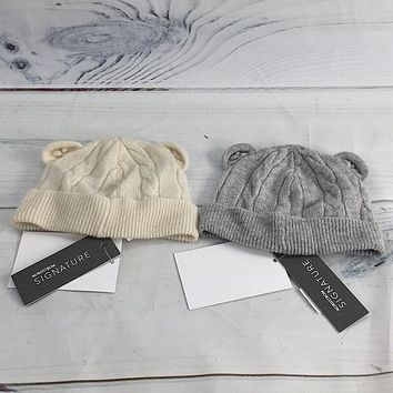 Nordstrom Signature Infant Baby Cable Knit Cashmere Beanie