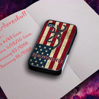 Design By : Flowerloveskull browning deer flag US for iPhone case and Samsung Case and The Beautyful Case.