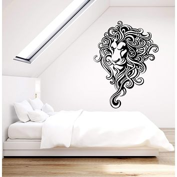 Vinyl Wall Decal Abstract Lion King African Animal Predator Stickers (3030ig)