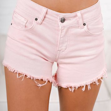 Scheme Of Things Distressed Shorts (Pink)