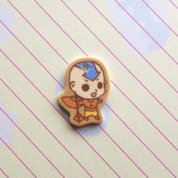 Aang Cell Phone Charm Avatar The Last Airbender by Hazuza on Etsy