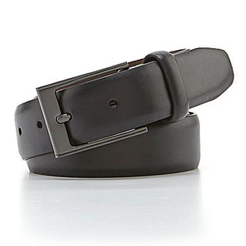 Roundtree & Yorke Gun And Roses Leather Belt - Black