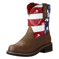 Ariat Women's Patriot Brown Fatbaby Heritage Boots Round Toe