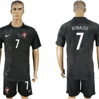 2018 world cup Portugal Ronaldo Away Soccer Jersey