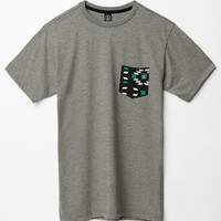 Volcom Bradshaw Pocket T-Shirt - Mens Tee - Grey