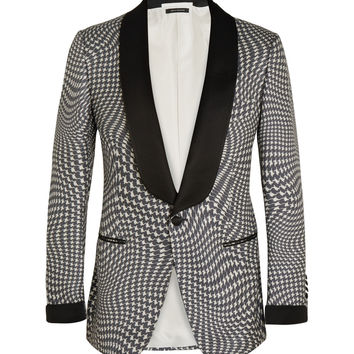 Tom Ford - Grey Houndstooth Silk Tuxedo Jacket | MR PORTER