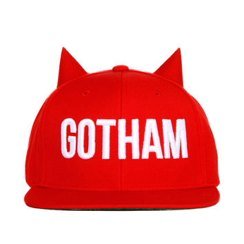BADACIOUS Red Gotham Snap Back - 50% OFF
