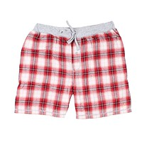 Shadow Plaid Flannel Boxer in Barn Red by True Grit - FINAL SALE