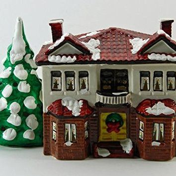 Dept 56 Duplex 1986 Ceramic Original Snow Village Building Retired 50504