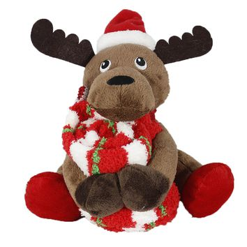 Cuddly Pets stuffed animal w/ non-skid sock -Reindeer By MinxNY