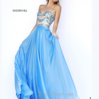 Strapless Sweetheart Formal Prom Gown By Sherri Hill 1942