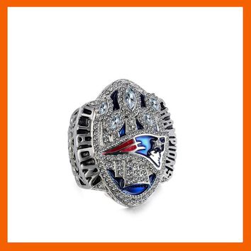 READY MADE 2016 NEW ENGLAND PATRIOTS SUPER BOWL LI THE LARGEST CHAMPIONSHIP RING US SIZE 6 7 8 9 10 11 12 13 14 AVAILABLE