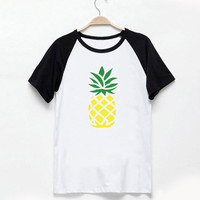 Pineapple T-Shirt Pineapple Tumblr Instagram Shirt Vintage Style