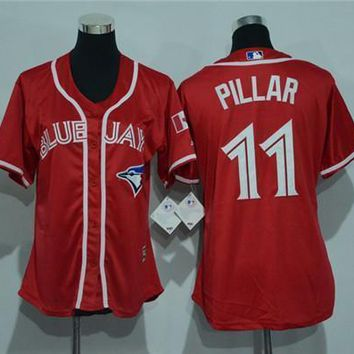 Women's Toronto Blue Jays #11 Kevin Pillar Cool Base Player Jersey