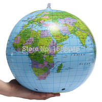 Globe Map Inflate Inflatable Earth World Teacher Beach Ball Geography Detailed Illustration Teaching Aid Toy Office Classroom