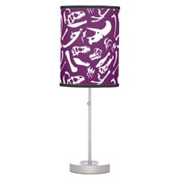 Dinosaur Bones (Purple) Desk Lamp