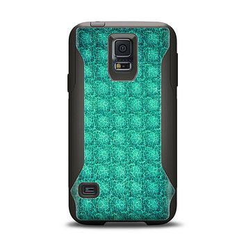 The Green Wavy Abstract Pattern Samsung Galaxy S5 Otterbox Commuter Case Skin Set