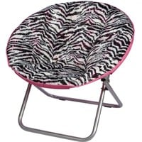 Zebra Foil Saucer Chair | Girls Accessories Clearance | Shop Justice
