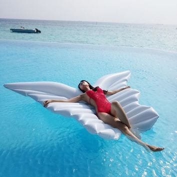 Large Size Pool Party Inflatable Floating Air Mattress Angel Wings