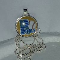 "KC Royals 1"" Pendant Necklace/Keychain free shipping kansas city royals"