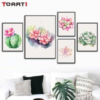Nature Flowers Succulent Plants Nordic Wall Art Prints Poster Modern Home Decor Canvas Painting Modular Wall Picture For Bedroom