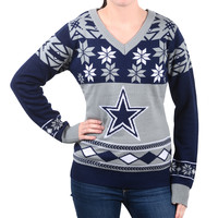 Dallas Cowboys Women's Official NFL Ugly Sweater - Choose your Style!