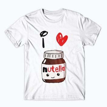 Nutella T-Shirt Love Nutella Onesuit Kids Adults  Shirts Funny Tee Gift Insta Tumblr Quote Humour Chocoholic Netflix and Chill Cute Dope -NU3