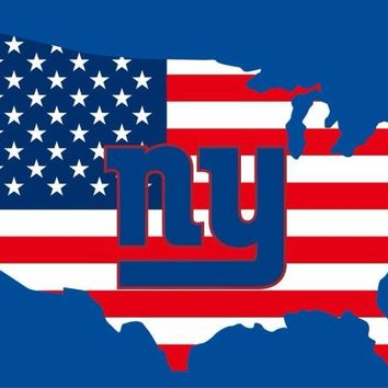 New York Giants FLAG 90X150cm fan club polyster WITH American map custom flag