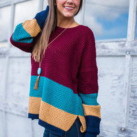 Let It Slide Sweater, Burgundy