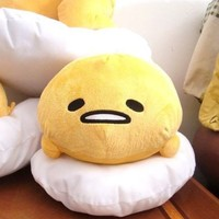 "HOT 2015 Sanrio ぐでたま Gudetama Egg Plush Doll Pillow Cushion 15"" RARE +FS"