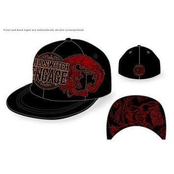 Killswitch Engage Dragon Crest Flat Brim - Mens Black Baseball Hat