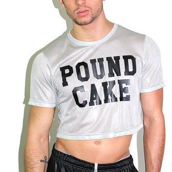 Pound Cake Crop Tee- Grey